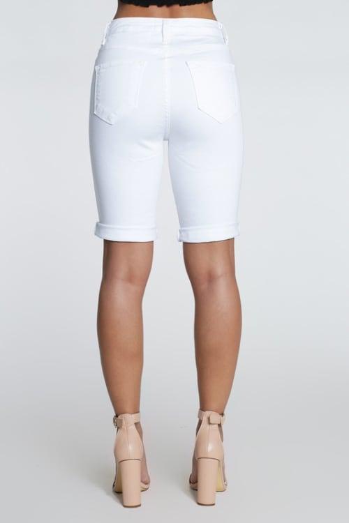 Distressed Boyfriend Bermuda Shorts - Back