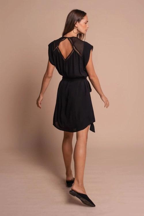 Amber Short Sleeve Sundress Dress - Back