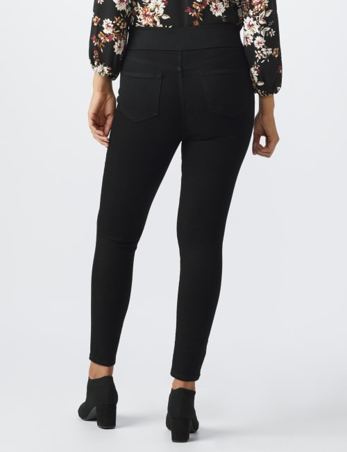 Westport Signature High Rise Pull On Jegging Jean - Back