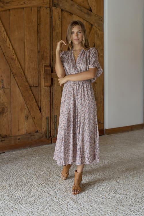 Bianka V-Neck Maxi Dress - Back