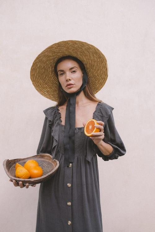 Boho Peasant Midi Dress - Back