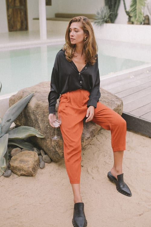 Cropped Classic Pants - Back