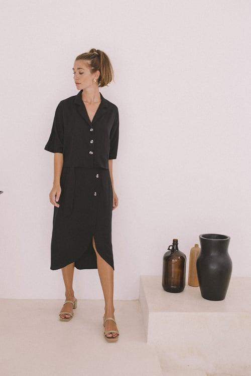 Bamboo Midi Skirt - Back