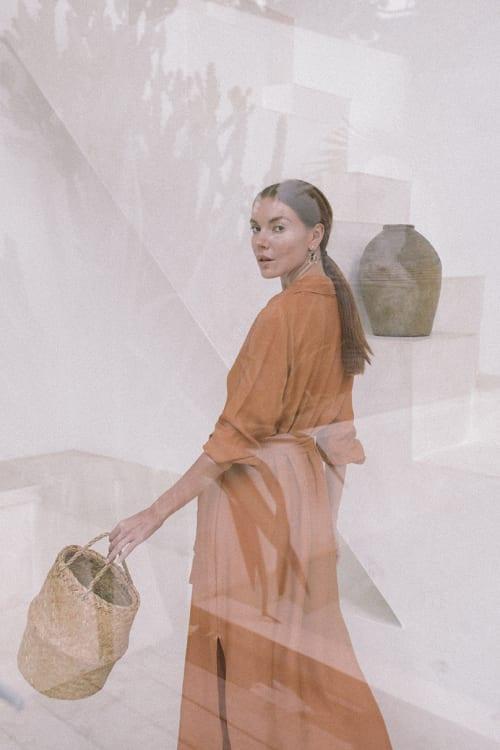 Iconic Apricot Shirt Dress - Back