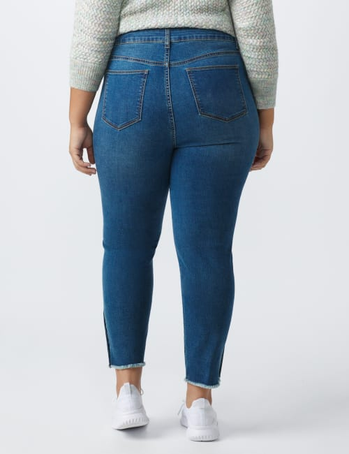 Westport Signature 5 Pocket Skinny Ankle Jean With Snap Button At Ankle - Plus - Back