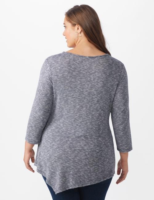 Westport Space Dye Sweater Knit Tunic - Plus - Back