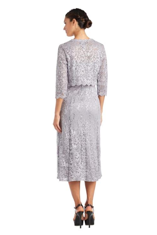 Lace Bolero Jacket Dress - Back