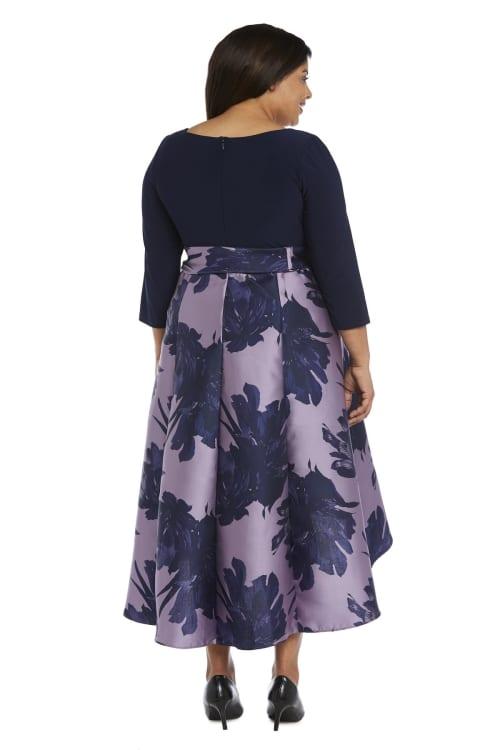 Cascading High Low Dress -Plus - Back