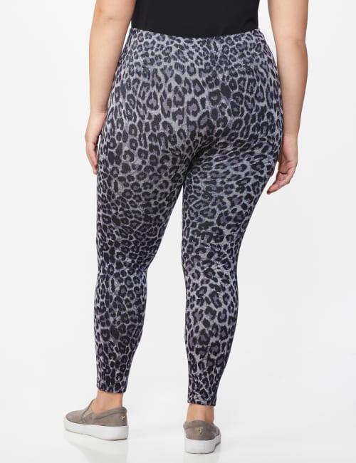 Zac & Rachel Animal Print Legging - Plus - Back