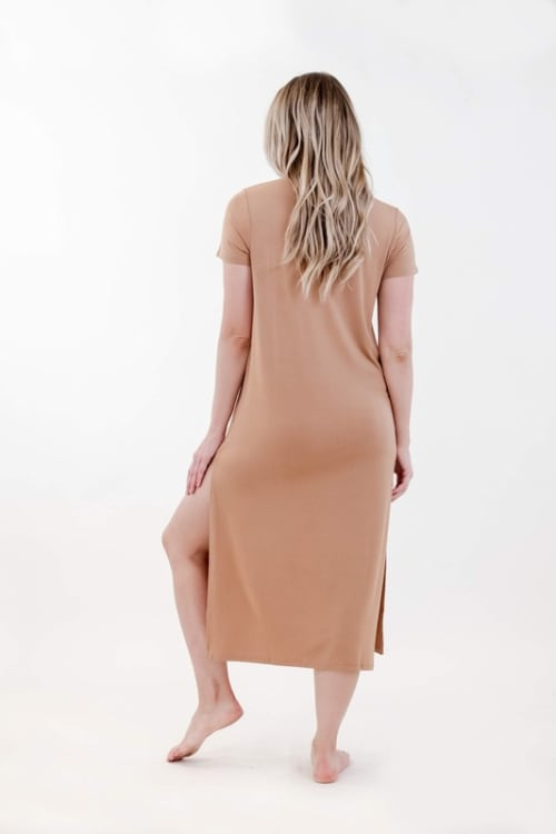 One Spirit Side Slit Long Dress - Back