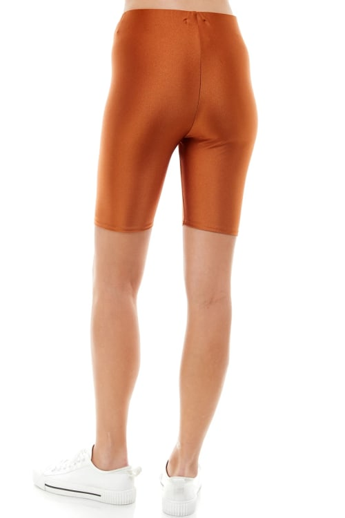 Super Stretch Comfy Yoga Fabric Biker Short - Back