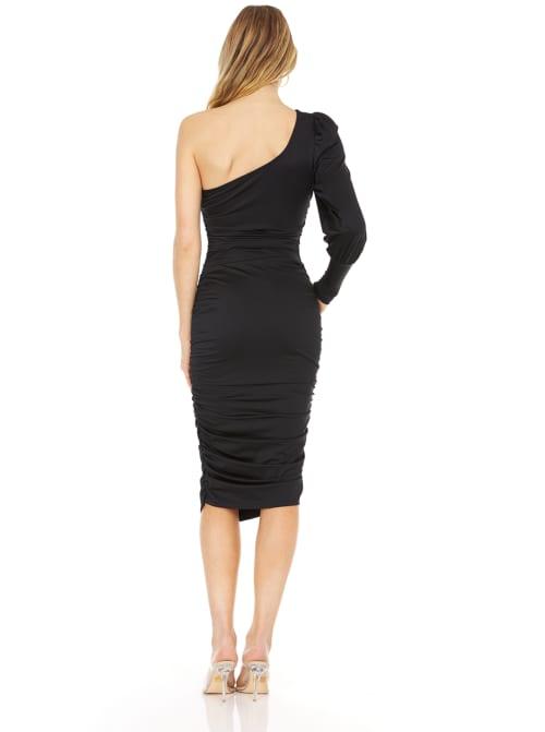 One Shoulder Midi Dress - Back