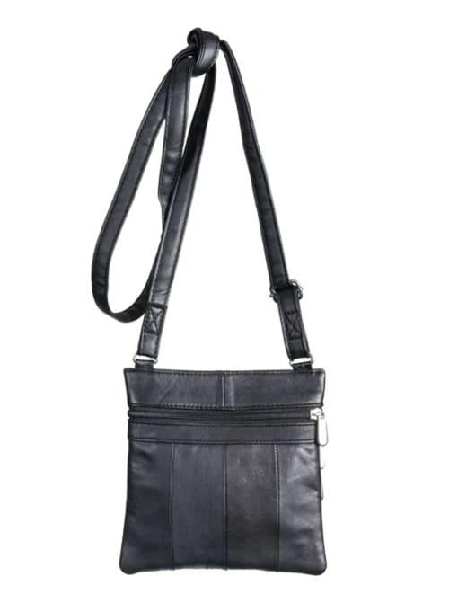 Champs Leather Triple Zip Cross Body Bag - Back