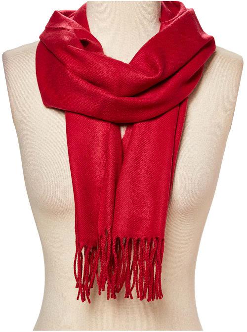 Red Pashmina Scarf - Back