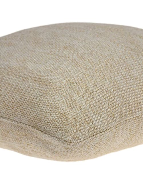 Casual Oatmeal Tweed Accent Pillow Cover - Back