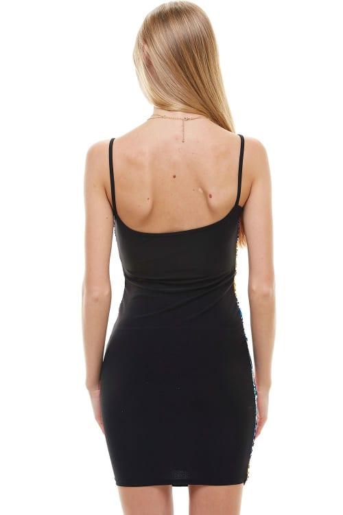 Multi Color Sequin Cami Dress - Back