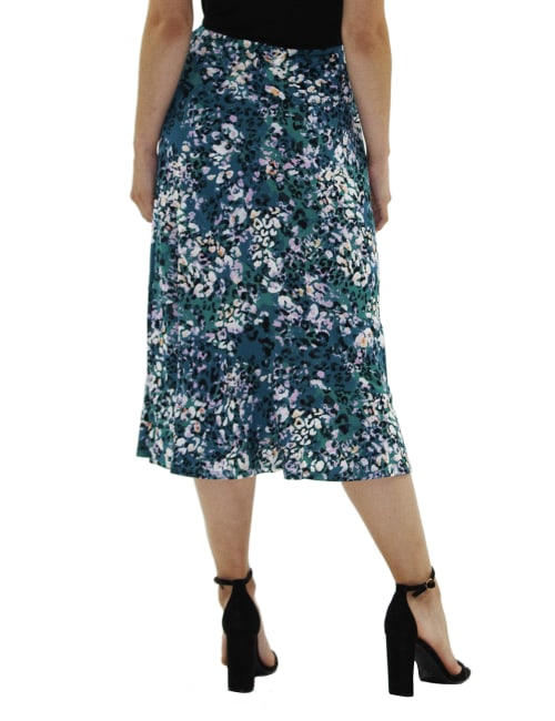 A Line Pull On Skirt - Petite - Back