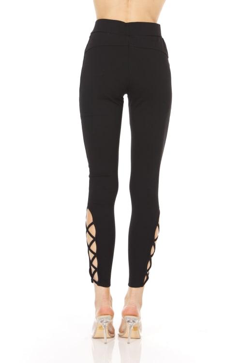Legging With Lattice Detail - Back