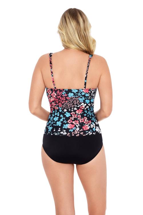 Hillside V-Neck  Side Shirred Swimsuit - Back