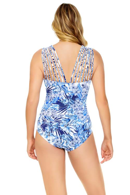 Royal Affair Multi Strap Swimsuit - Back