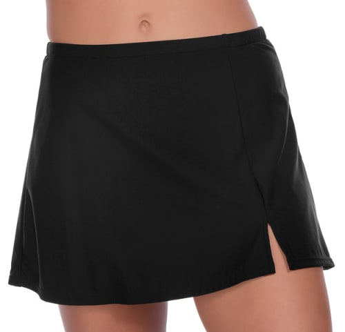 Solid 12 Women Swim Skirt  - Plus - Back