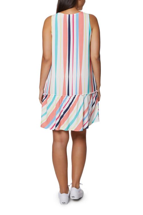 Caribbean Joe Ruffle Bottom Dress - Back