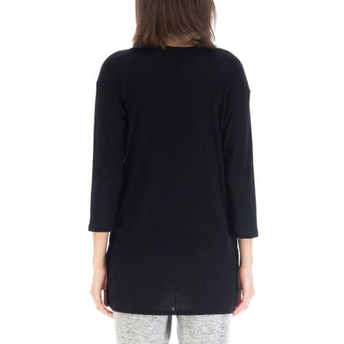 3/4 Sleeve Rib Top - Back