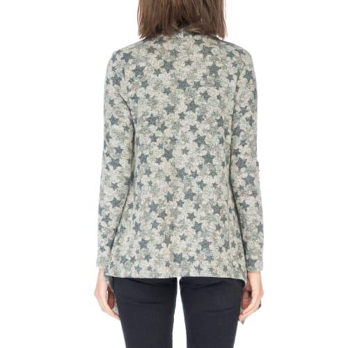 Amie Drape Long Sleeve Front Cardigan - Back