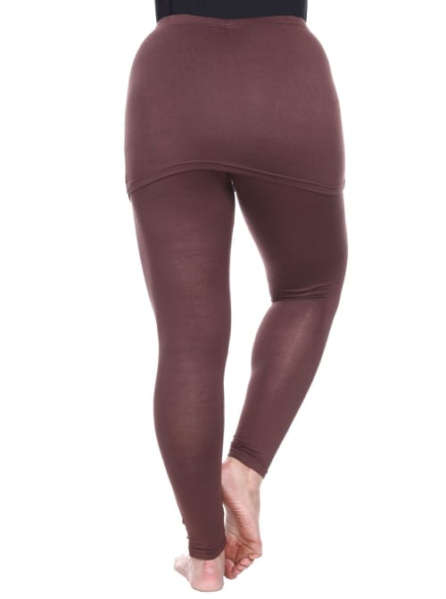 Form Fit Soft Skirted Leggings - Plus - Back