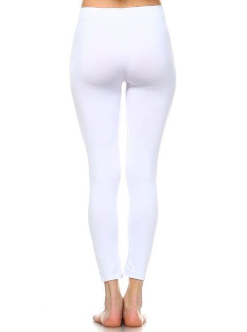 Solid Versatile Soft Leggings - Back