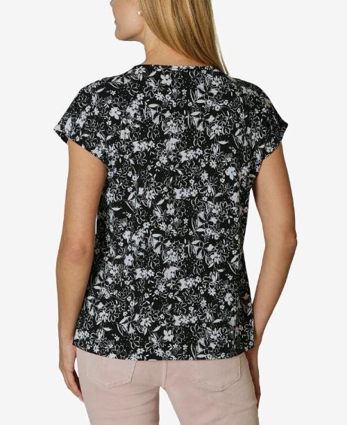 Adrienne Vittadini Short Sleeve Dolman Blouse - Back