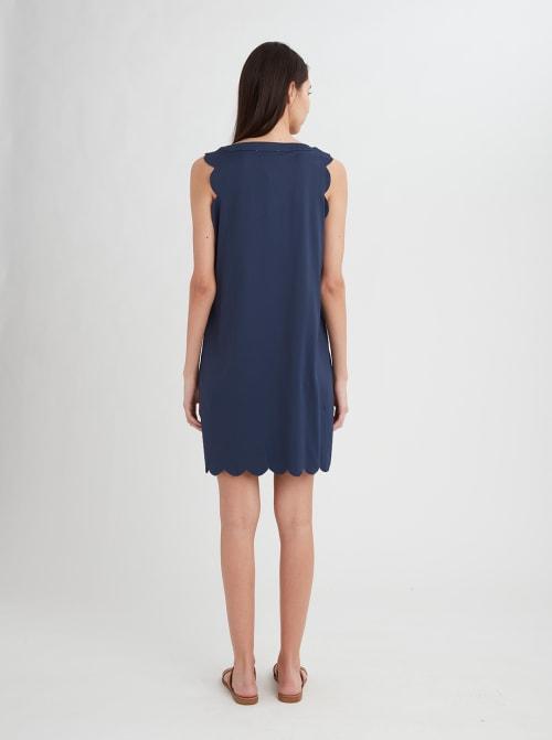 Stella Parker Bryanna Scallop Notch Neck Dress - Back