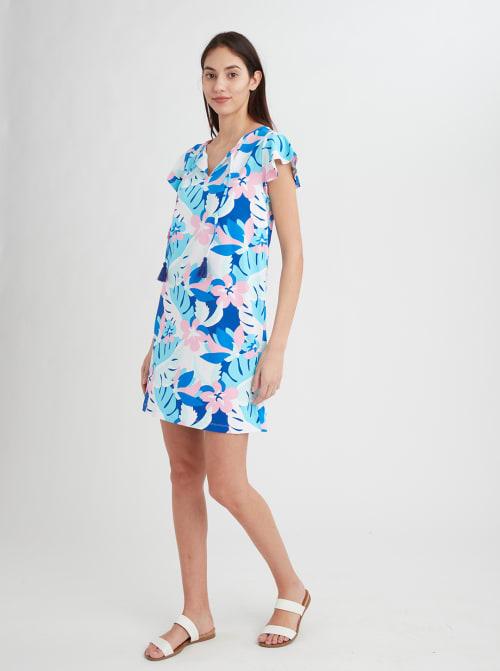 Stella Parker Sasha Ruffle Sleeve Tassel Dress - Back