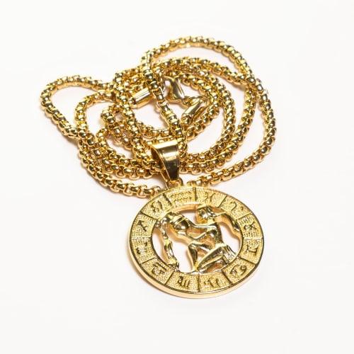 Dell Arte by Jean Claude Aquarius Zodiac Sign Pendants Necklace - Back