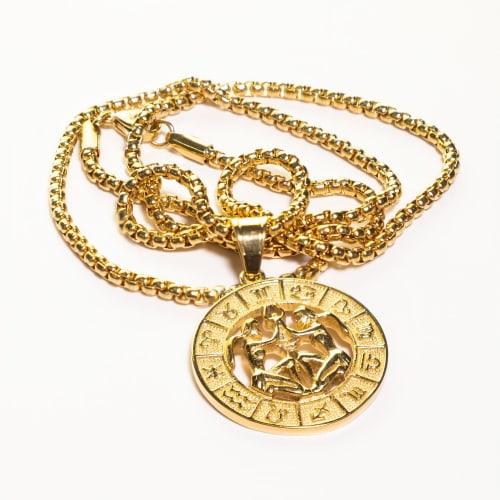 Dell Arte by Jean Claude Gemini Zodiac Sign Pendants Necklace - Back