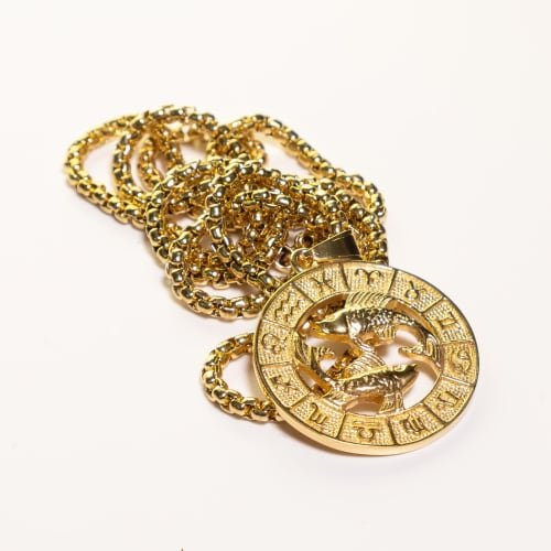 Dell Arte by Jean Claude Pisces Zodiac Sign Pendants Necklace - Back
