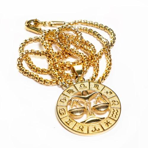 Dell Arte by Jean Claude Libra Zodiac Sign Pendants Necklace - Back
