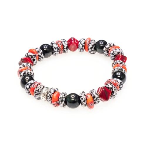Dell Arte by Jean Claude Krobo Recycled Glass Beads Mix Bracelet - Back
