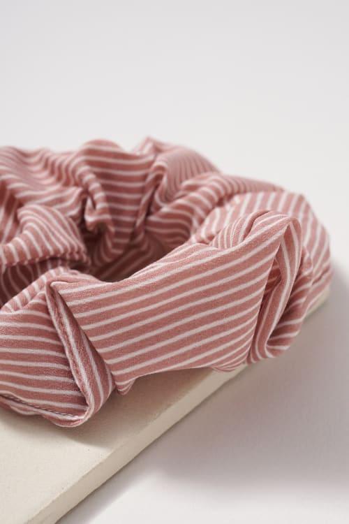 Striped Hair Scrunchies - Back