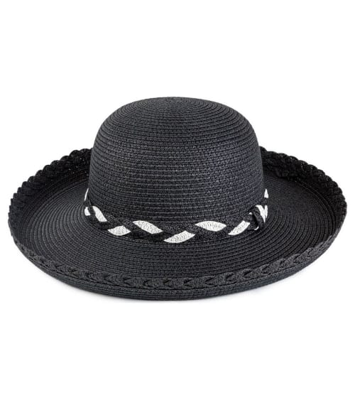 Braided Straw Kettle Hat - Back