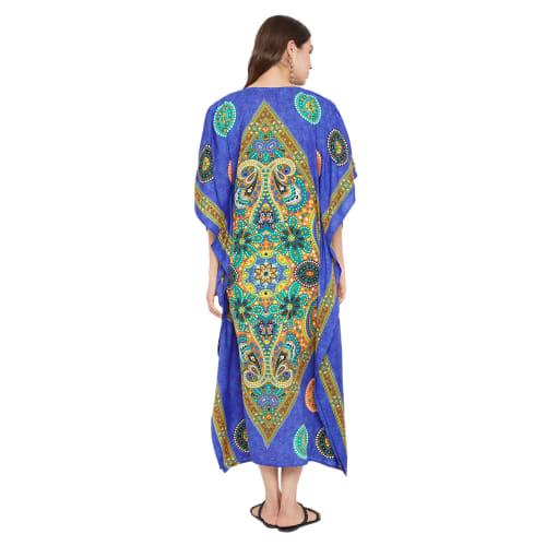 Kaftan Long Maxi Dress - Plus - Back
