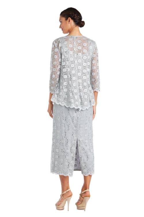 Fishtail Lace Jacket Dress - Back