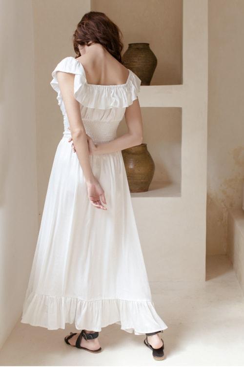 Florence Off Shoulder Maxi Dress - Plus - Back