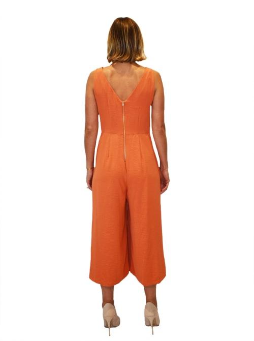 Gabby Skye Tie Front Jumpsuit - Back