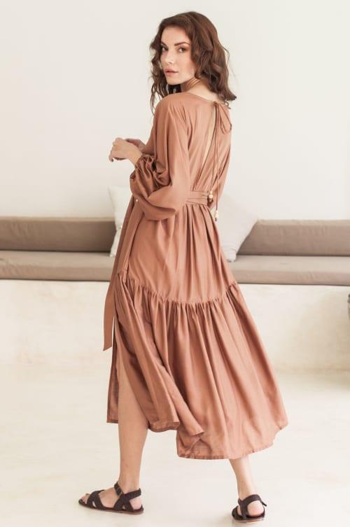 Thalia Midi Dress  - Plus - Back