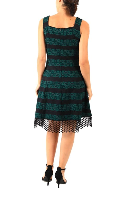 DR Sweetheart Neckline Lace Fit And Flare Dress - Back