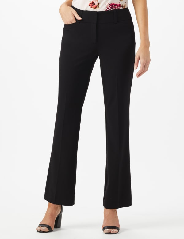 Roz & Ali  Secret Agent  Trouser With Cateye  Pocket  & Zipper - Black - Front