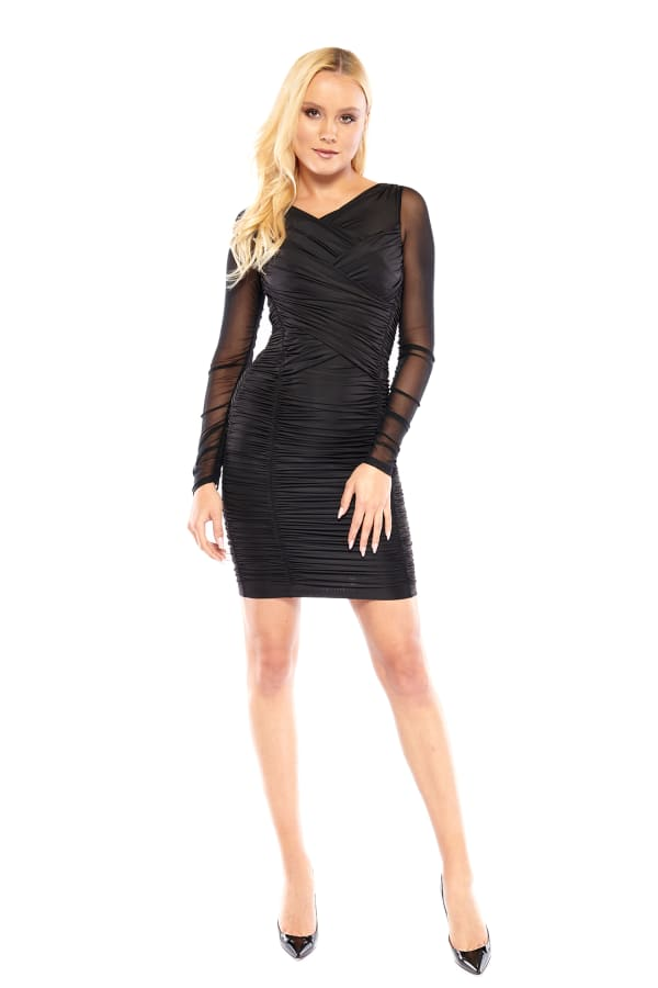 THE GISELE DRESS - Black - Front