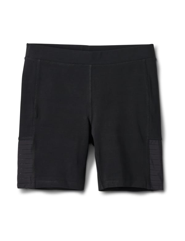 Pima Cotton Bike Short - Black - Front