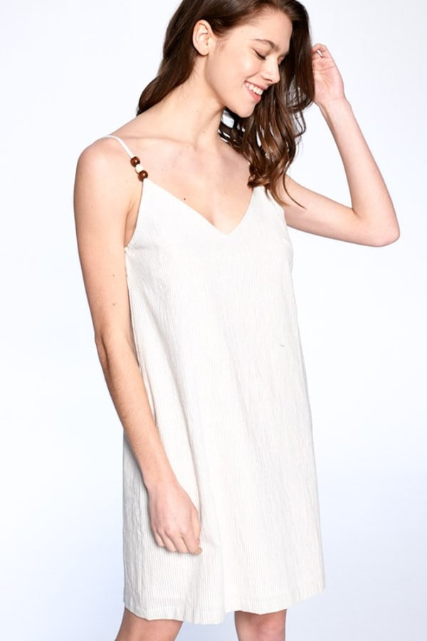 Everyday Night Dress - Tan / Ivory - Front